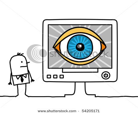 stock vector computer big eye 54205171 What Are Your Top Questions about Eye Tracking?